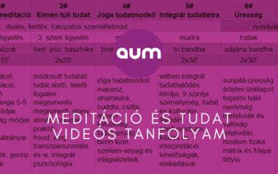 Meditáció és tudat videós tanfolyam