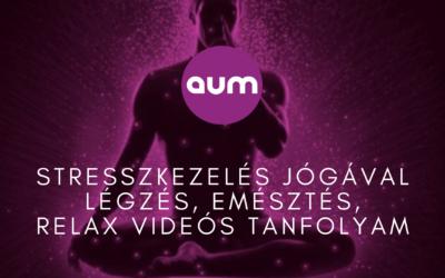 Stresszkezelés jógával – légzés, emésztés, relax videós tanfolyam